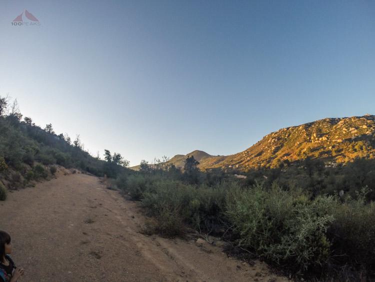 Japacha Peak from the Arroyo Seco Trail