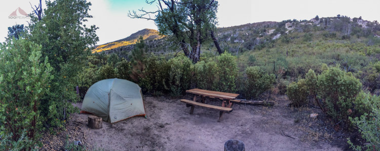 Pano of Arroyo Campsite #3