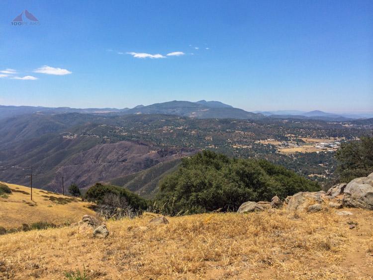 Plenty of recognizable peaks from Volcan Mountain
