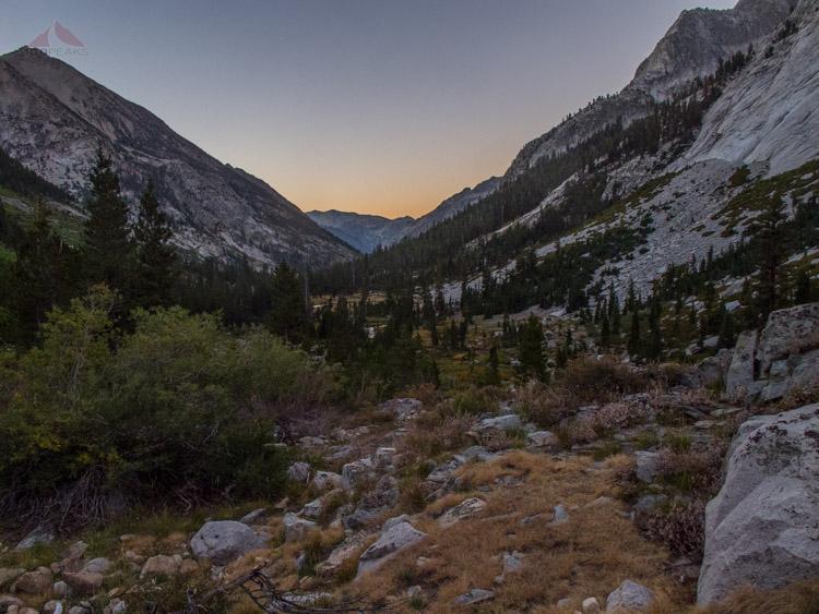 Sunrise in Le Conte Canyon