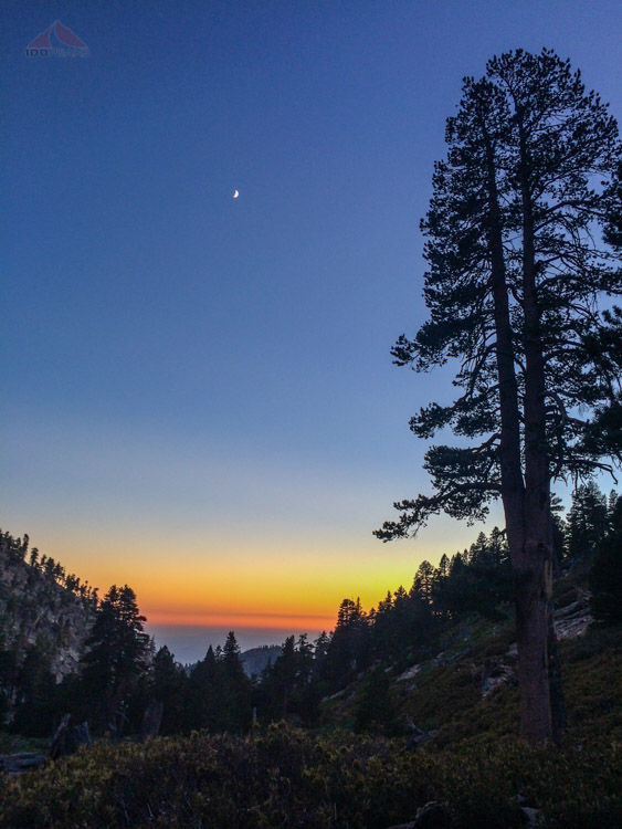 Sunset view from High Creek Camp