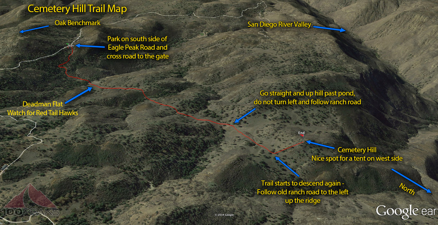 Cemetery Hill Trail Map