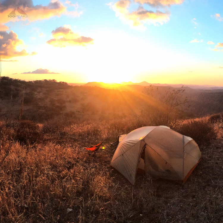 Our tent on Cemetery Hill