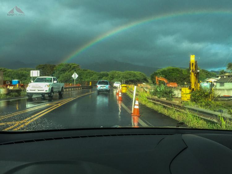 A rainbow on the way to Lanilili
