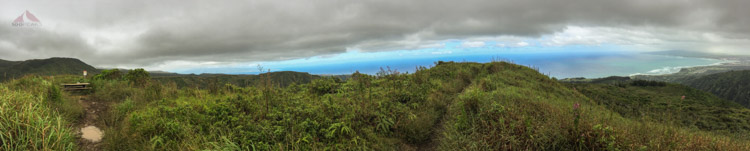 Pano from the Lanilili Summit