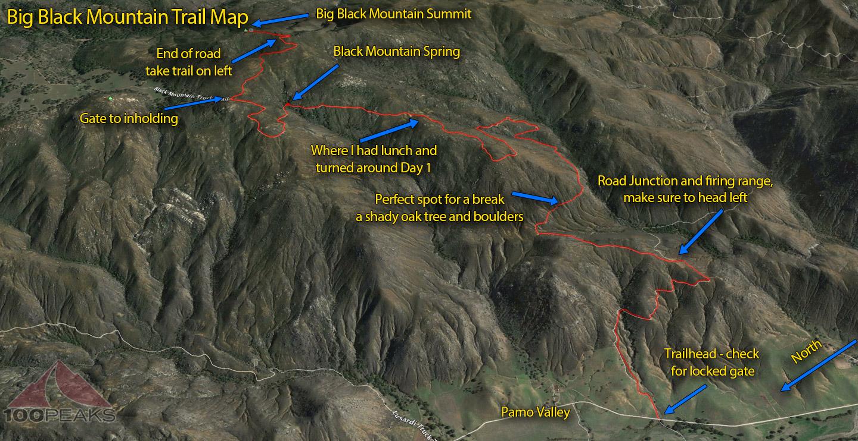 Big Black Mountain Trail Map