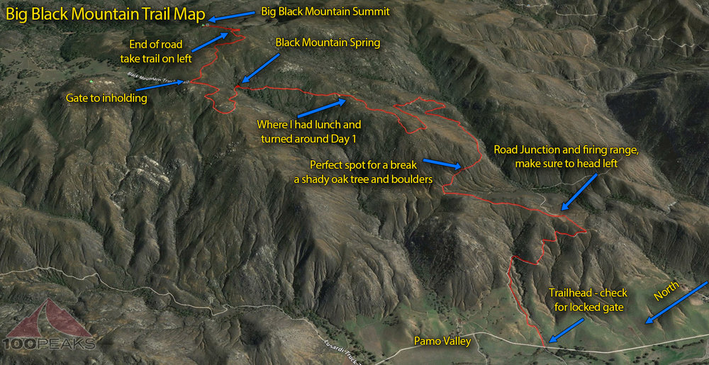 Big Black Mountain Trail Map
