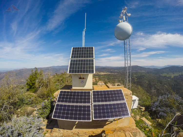 Solar and antenna array at the top of Big Black Mountain