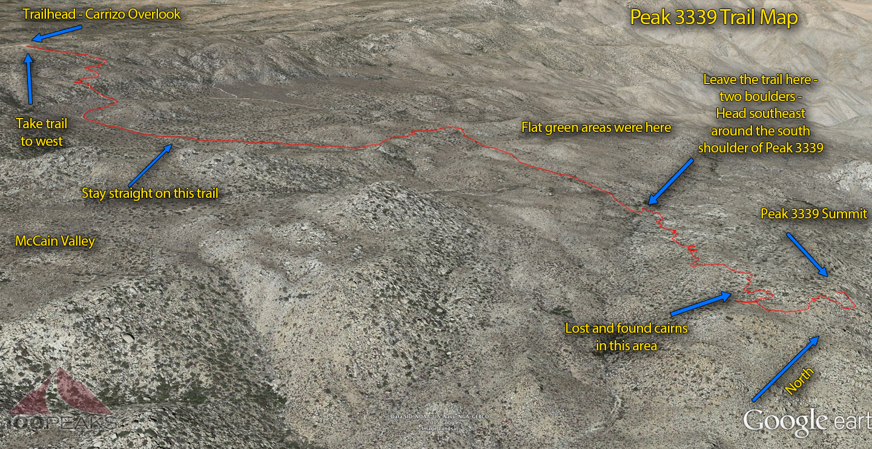 Peak 3339 Trail Map