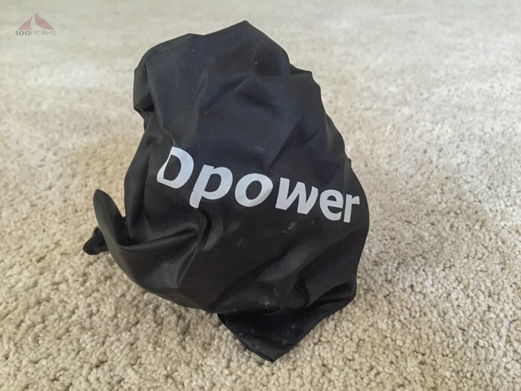 The Dpower stove in the included bag