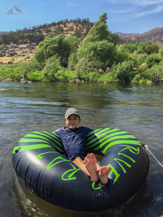 Cooling off in the Kaweah River