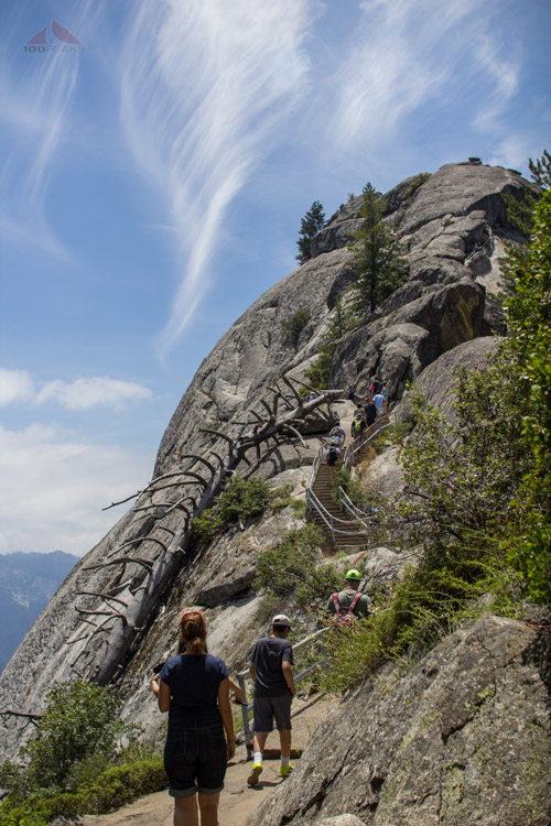 The Trail up Moro Rock
