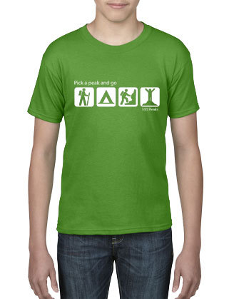 100 Peaks Youth T-shirt