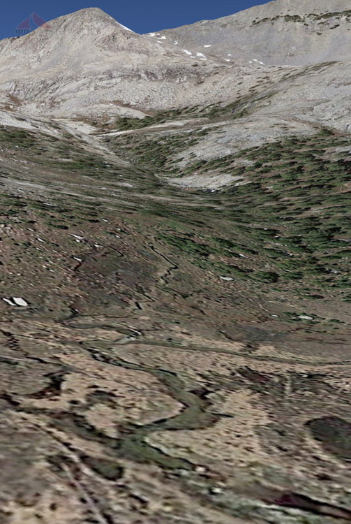 Google Earth version of Lower Alpine Creek