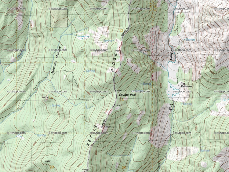 Coyote Pass Map