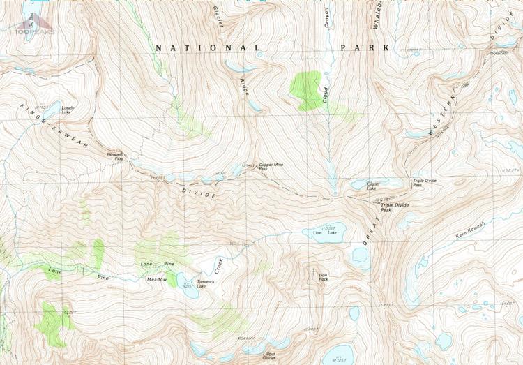 1988 Map of Elizabath Pass
