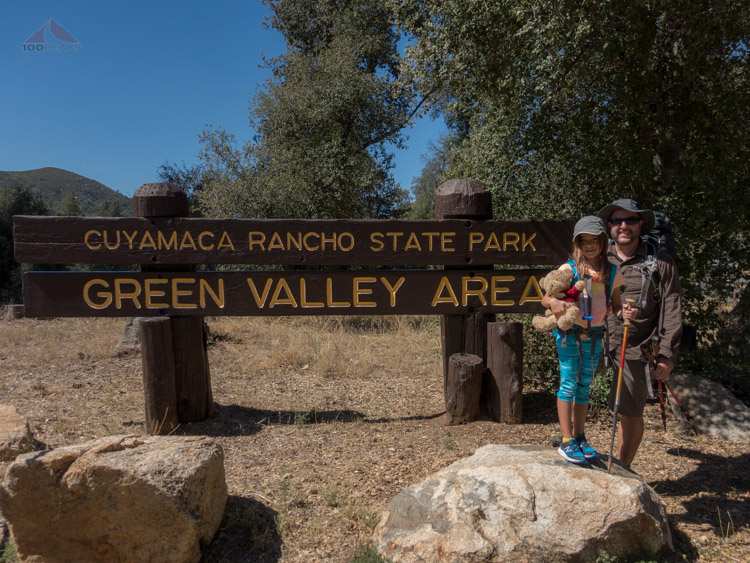 At the Green Valley trailhead