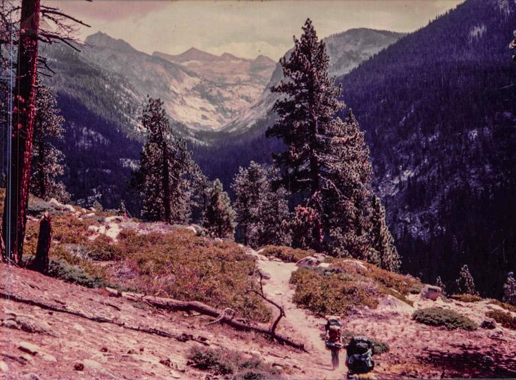 Deadman's Canyon from Moraine Ridge 1984
