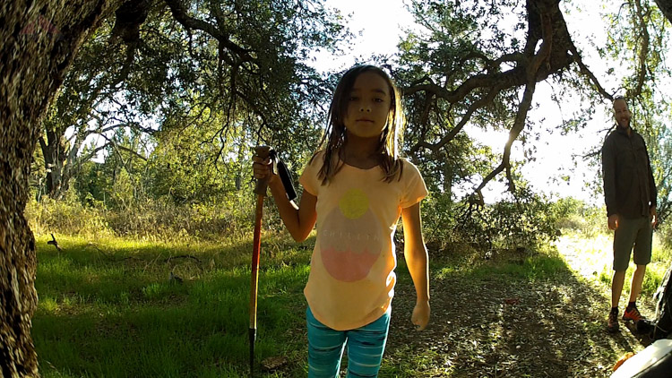 Enjoying our morning at Granite Springs Trail Camp