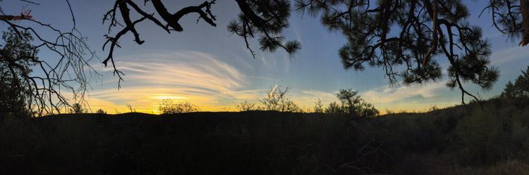 Sunrise at Granite Springs Trail Camp