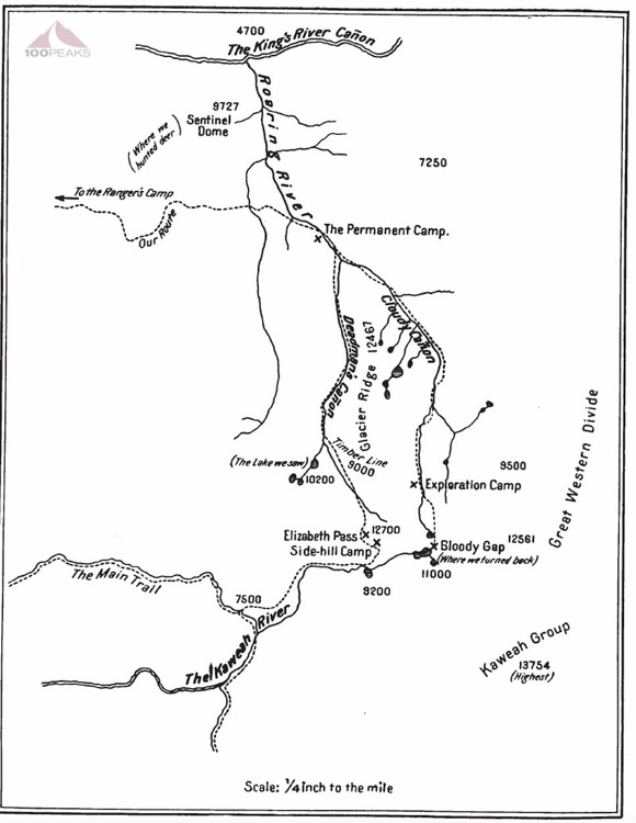 White's Elisabeth Pass Map
