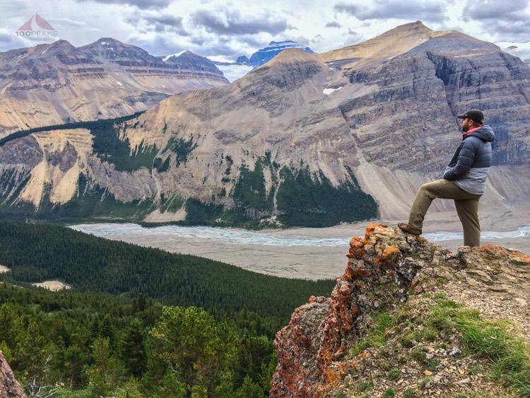 Me at the end of the Parker Ridge Trail