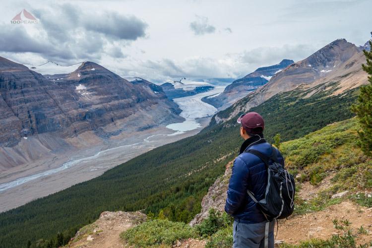 The PD, contemplating the Saskatchewan Glacier