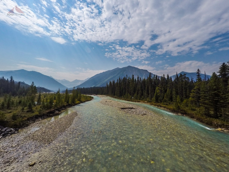 The first bridge, crossing the Kootenay River