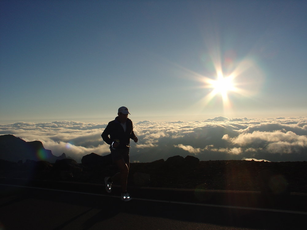 Mike Trevino above the clouds