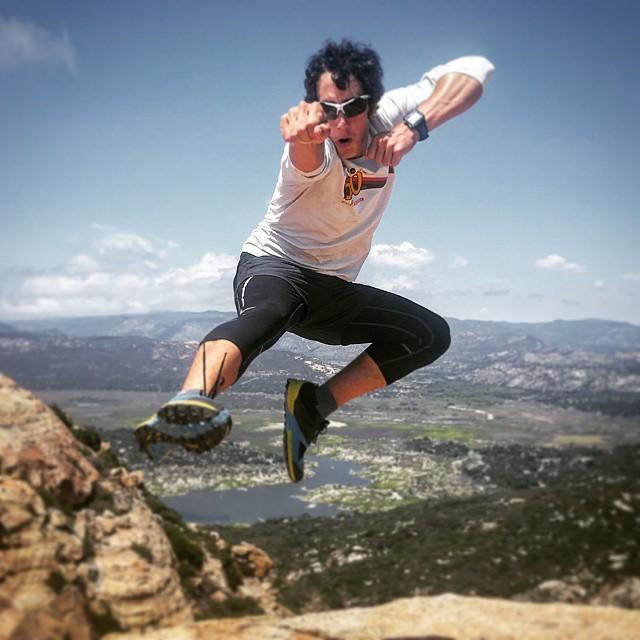 Nick Hollon on Morena Butte