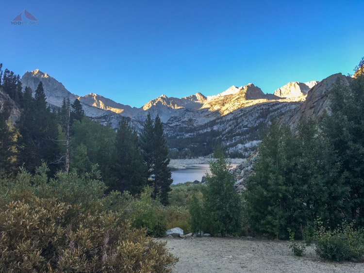 South Lake at the Bishop Pass Trailhead