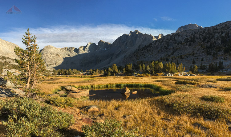 Lower Dusy Basin from my campsite