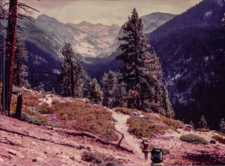 On the way to Whitney through Deadman's Canyon in 1984