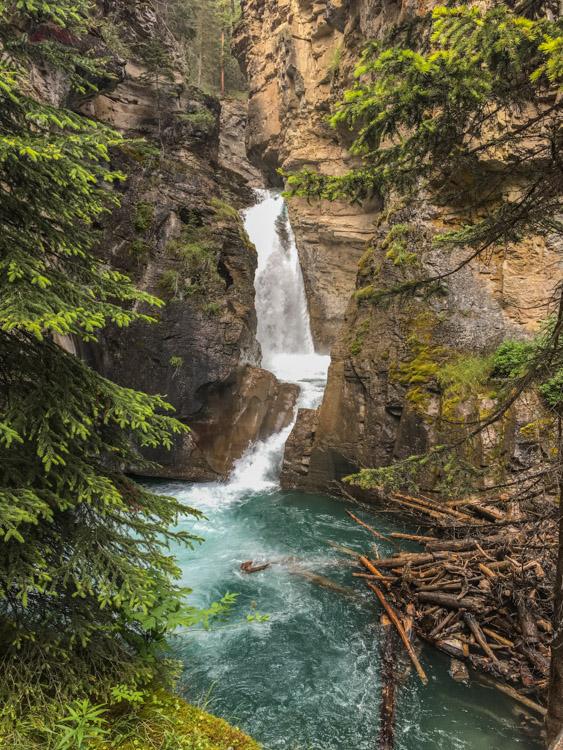 Johnston Canyon, Lower Falls