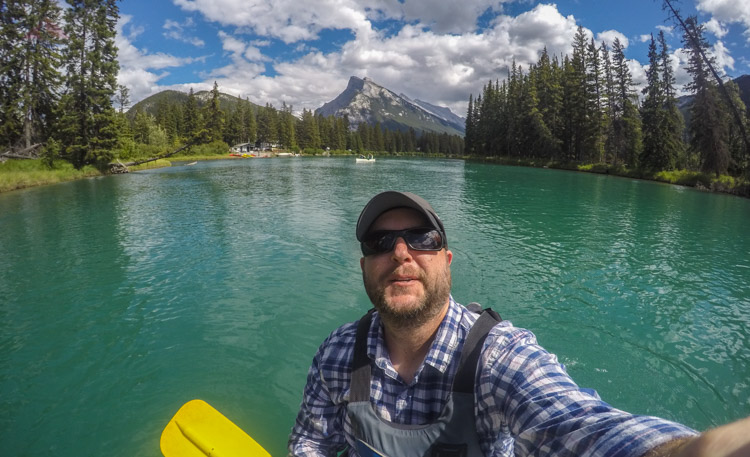 Canoeing on the Bow River