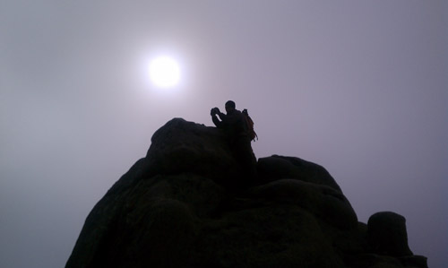 Me on the top of a mountain, taking a picture