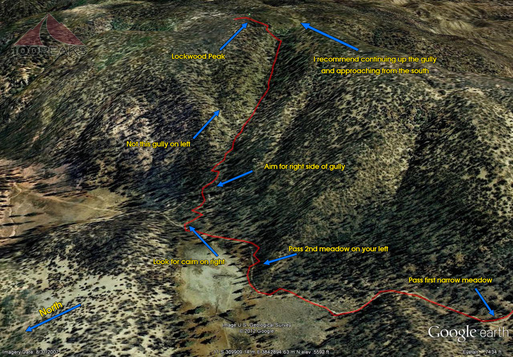 Lockwood Peak Detail Trail Map