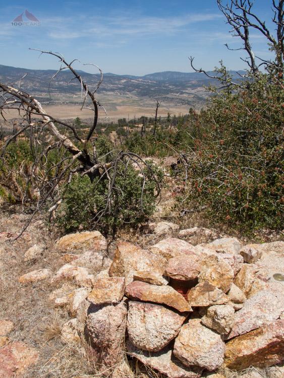 Lockwood Peak Summit register and view