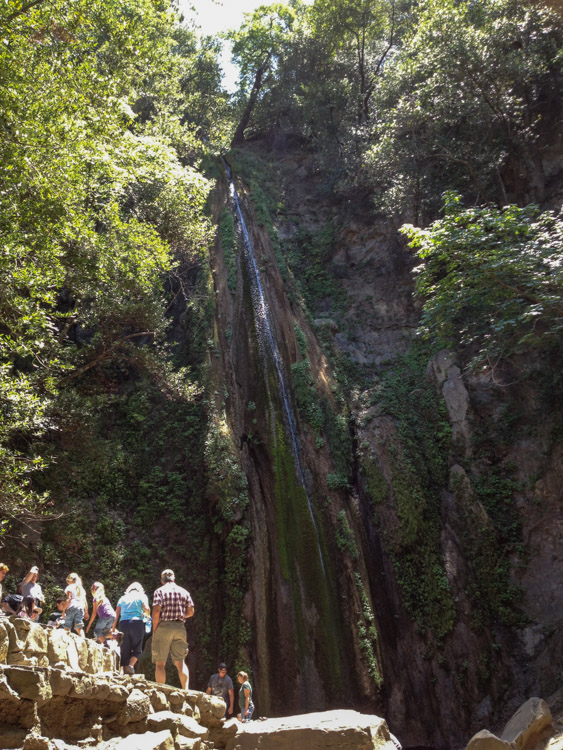 With waterfalls, come crowds