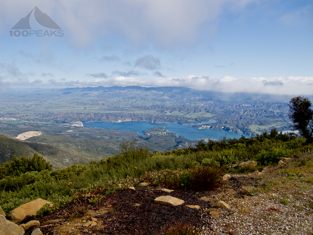 Lake Cachuma from Broadcast Peak