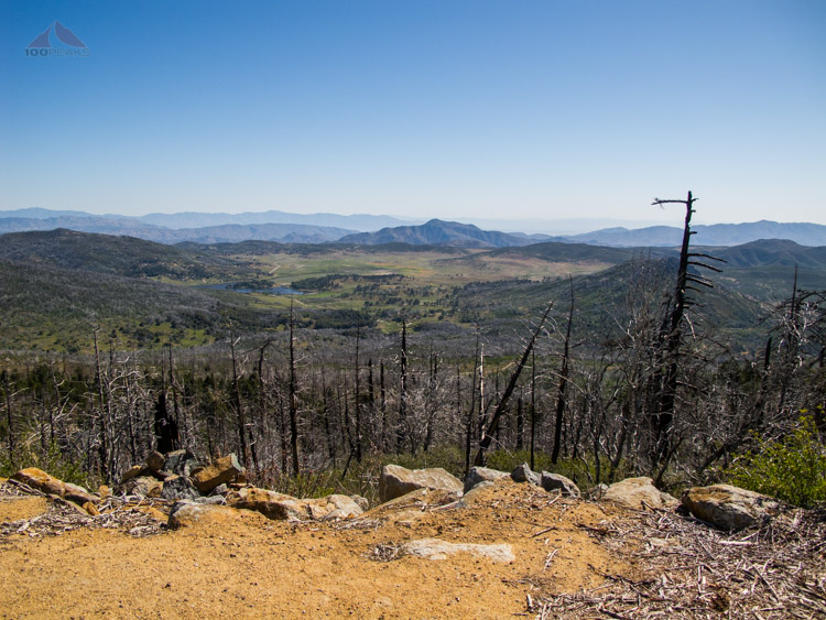 Cuyamaca Lake and Granite Mountain from Cuyamaca Peak