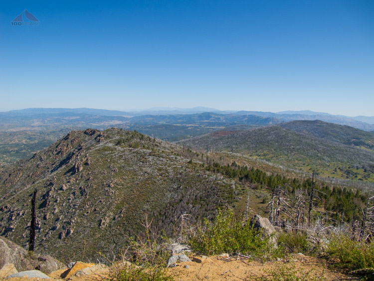 View North From Cuyamaca Peak, Hot Springs Mountain, and San Jacinto Mountains in the distance