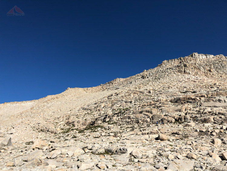 Looking up to New Army Pass