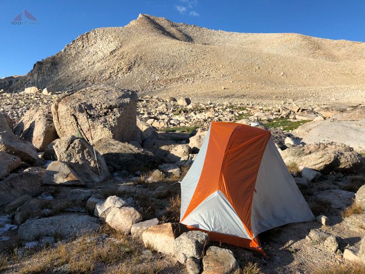 My tent with Cirque Peak in the background.jpg