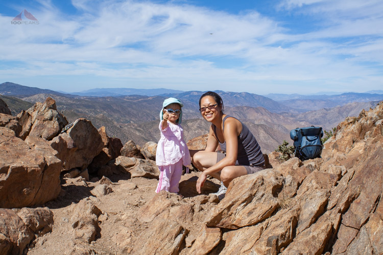 Family time atop Garnet Peak