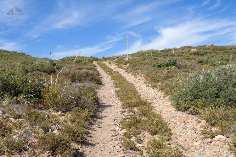 The old road to Garnet Mountain