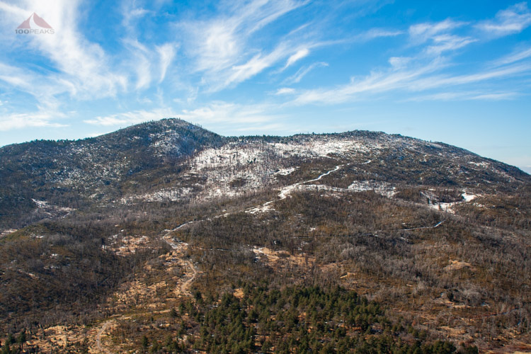 Cuyamaca Peak from Stonewall Peak