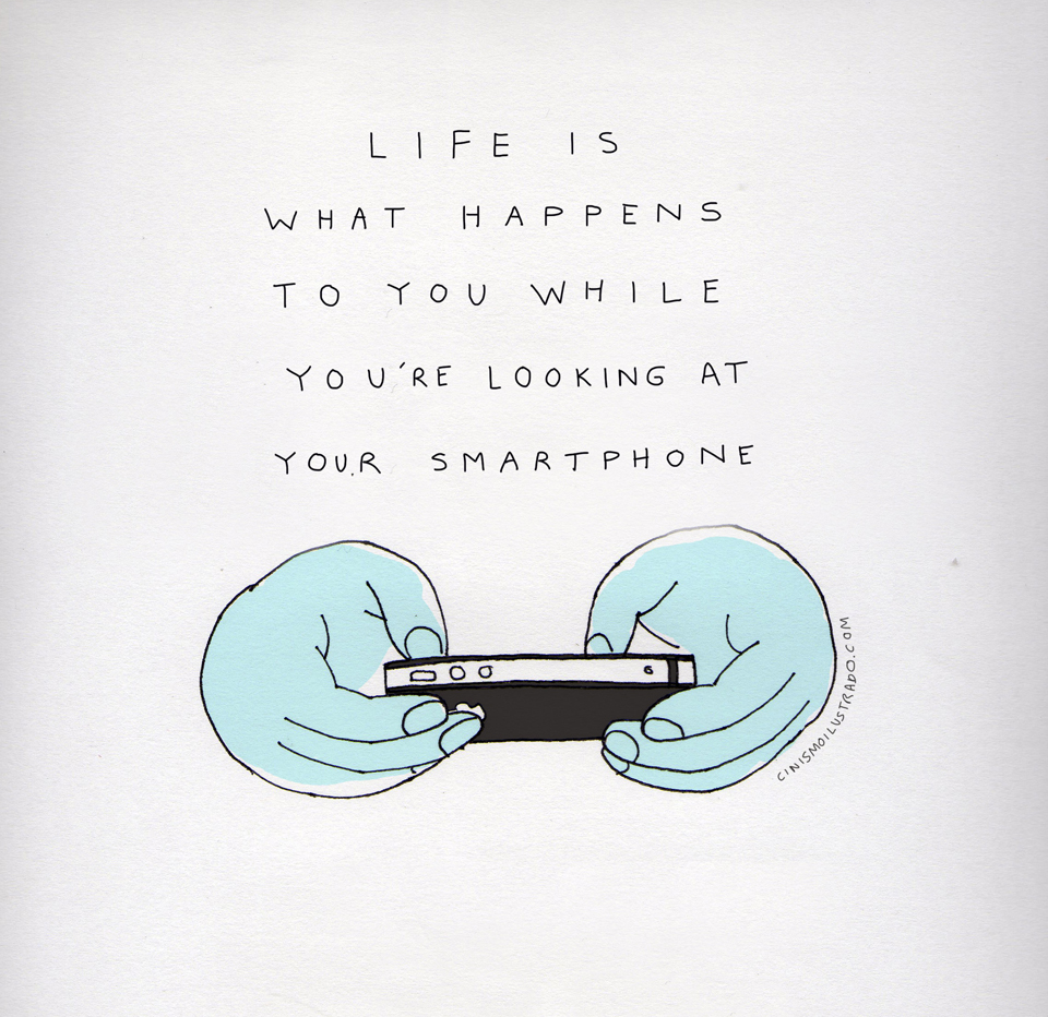 Life is what happens to you while you're looking at your phone | The Loveumentary |