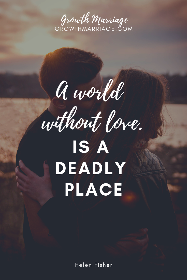 Love is something that every human being can understand and experience. It is our common ground. We may not be able to relate to each other culturally, intellectually, or politically. But we all know what it feels like to be smitten... and also how devastating it is to be heartbroken. -
