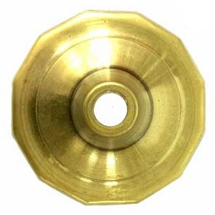 "O12CAP 12 Sided Brass Vase Caps   Side length: 3/4""(19mm)"